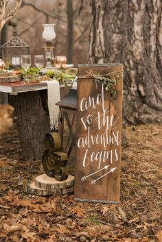 Rustic woodland outdoor fairytale wedding decor / http://www.deerpearlflowers.com/perfect-rustic-wedding-ideas/2/