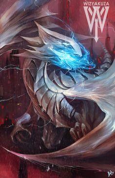 Blue eyes white dragon by wizyakuza