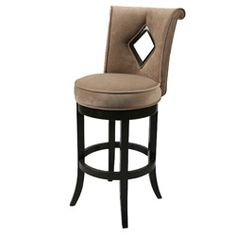 @Overstock - This swivel barstool features a quality wood frame with sturdy legs and a foot rest finished in Latigo brown. The padded seat of this counter stool is upholstered in a Bella Cocoa offering comfort and style.http://www.overstock.com/Home-Garden/Newcastle-26-inch-Wood-Swivel-Counter-Stool/6150980/product.html?CID=214117 $198.99