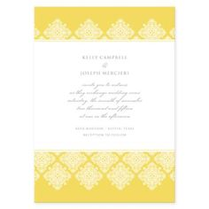 Love the yellow for a summer wedding invitation (click to find out how to order)