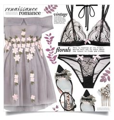 """""""Smell the Roses: Vintage Florals"""" by dolly-valkyrie ❤ liked on Polyvore featuring L'Agent By Agent Provocateur, Rochas, Camilla Christine, Joomi Lim, vintage and vintageflorals"""