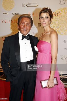 Valentino with Rosario Nadal  arrives at the Villa Borghese for a gala to celebrate Valentino's latest Fashion show and Anniversary, on July 7, 2007 in Rome, Italy.  Fashion icon Valentino decided to mark the celebration of the 45th anniversary of his luxury brand by breaking a 17 year tradition of unveiling his luxurious haute couture collections for women in Paris with a show in Rome. (Photo by Michel Dufour/WireImage)