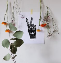 Peace & Love poster by Baba Souk