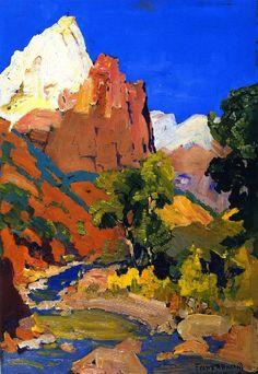 Franz-Bischoff-xx-Zion-National-Park-xx-Irvine-Museum.jpg (500×726)