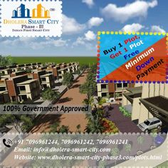 Book Plots in Dholera Smart City Phase3 and grow your investment within few months.
