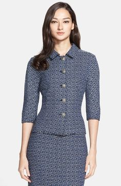 St. John Collection Dashed Stripe Knit Jacket available at #Nordstrom