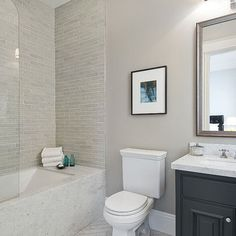 colors for upstairs bath and the half glass for downstairs shower? Schluter Edge Design, Pictures, Remodel, Decor and Ideas