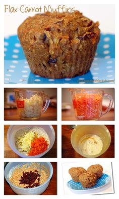 Flax Carrot Apple Muffin Recipe - Check out the 10 AMAZING benefits of flax! http://www.superhealthykids.com/flax-carrot-apple-muffins/
