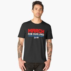 """""""March For Our Lives March 24 2018 Washington DC"""" Men's Premium T-Shirt by LisaLiza 
