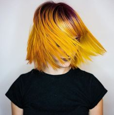 Yellow hair Yellow Hair, T Shirts For Women, Chain, Fashion, Moda, Blonde Hair Colour, La Mode, Fasion, Fashion Models