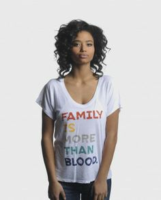 Family is More than Blood Flowy Raglan from Sevenly.org