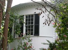 Legar Street House, Charleston, SC - was built near the end of the Revolutionary War by war widow, Mrs. Hayward. One morning she entered the library to find her son at the desk. She was surprised; he was supposed to be on a hunting trip. When she reached for him, he vanished into thin air. It was later discovered that he died around the same time his apparition appeared when his horse threw him. Since 1805 his ghost has been seen in the house staring out the window and in the library.