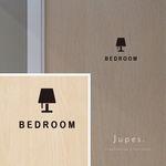 ベッドルーム(BEDROOM)用室名サインステッカー 〈黒〉