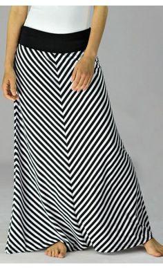 Banded Chevron Maxi Skirt - Apostolic Clothing