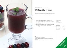 #Kuvings #Refresh #Juice #Recipe - Refresh juice with Whole Slow #Juicer #CS600