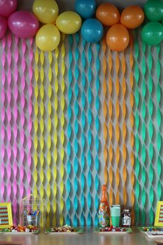 Colorfull birthday party background