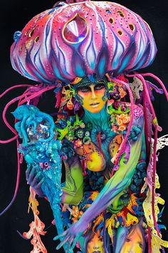 World Bodypainting Festival 2016 Body painter: Yulia Vlasva, Russia - Body Art Fantasy Makeup, Fantasy Art, World Bodypainting Festival, Mermaid Pictures, Human Art, Arte Pop, Face Art, Cosplay, Body Painting