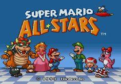 Super Mario all stars original titlescreen from the official artwork set for #SuperMarioAllStars 25th Anniversary Edition on #Wii. #Mario #MarioBros http://www.superluigibros.com/wii-super-mario-allstars-25th-anniversary