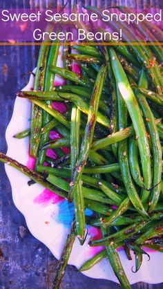 Healthy Sweet Sesame Snapped Green Beans