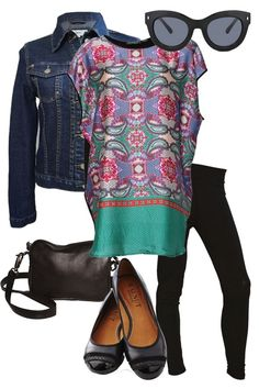 Punch of Paisley #outfitidea #style #winterstyle #denim #bluebungalow