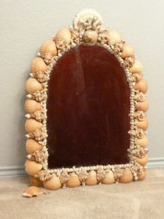 Arched Beach Sea Shell Mirror