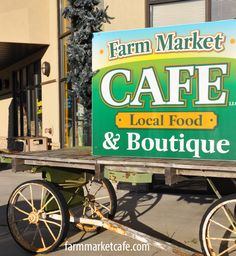 All local, fresh foods! Dine in, take out. Local artist, crafters and authors. An easy walk from Soo Line Trail Campground.