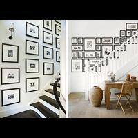 Votre escalier tant d 39 un gris soutenu on peut imaginer sur la mont e un - Habiller un mur blanc ...