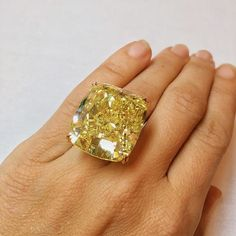 Instagram media marionfasel - ☀️ Sunshine on a ☔️ day in #NYC  The 75.56-carat Cushion Modified Brilliant-Cut Fancy Vivid Yellow Diamond that sold for $3,609,000 @christiesjewels in October  A Highlight for #TheAdventurine2015 ✨