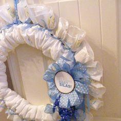 A Baby Shower Diaper Wreath