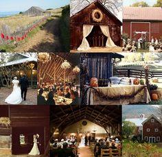 Cute idea for a more rustic wedding !