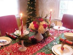 Hen House Linens Holiday Tablescape by Red Door Table Decor