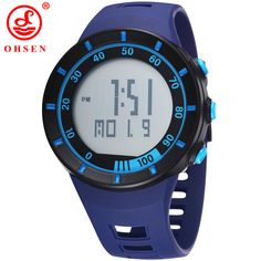 OHSEN Digital LED Military Watch Mens Multifunction Sports Watches Silicone Wristwatch 50M Waterproof 6colors 12-Month Guarantee #Affiliate