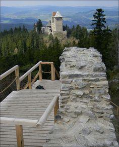 Kašperk Czech Republic, Garden Bridge, Palace, Travelling, Medieval, Castle, Outdoor Structures, Beautiful, Bohemia