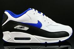 newest collection 3c6f3 43c92 Nike Air Max 90 Men s Shoes White Royal Blue Black,Fashion sneakers color  and style