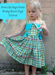 sew easy being green: Dress Up Days Dress, Brady Bunch Style-- tutorial