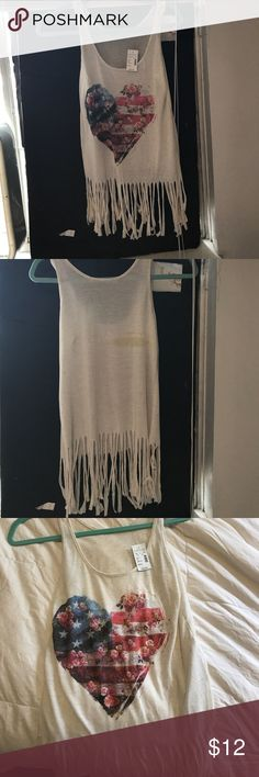 New with tags tank top from Maurice's S Very cute just never worn Maurices Tops Tank Tops