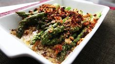 NYT Cooking: This comforting gratin is ready in less than 30 minutes. Feel free to use the thin asparagus, as noted in the recipe, or use thick asparagus, trimmed and peeled, as in the video. Or, just use the Parmesan breadcrumb topping on another favorite vegetable. It's a welcome and perfectly crisp addition to just about any meat or vegetable.