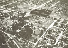 Aerial view of campus from 1930. From the 1980 Oregana (University of Oregon yearbook). www.CampusAttic.com