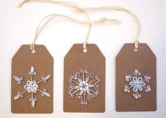 Glittery snowflake gift tag by allanamphotography on Etsy, £3.00