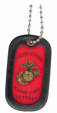 United States Usmc Marines Corps Retired Officer Unit Division Rank Seal Logo Symbols - Military Dog Tag Luggage Tag Key Chain Metal Chain Necklace -- Want additional info? Click on the image.