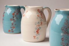 Featuring ranges 'Wild Flowers' by Irish ceramic artist Elaine Fallon of Brookwood Pottery www.brookwoodpottery.com