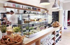 Deli Shop, Deli Cafe, Bakery Cafe, Cafe Restaurant, Restaurant Design, Valley Bakery, Deli Counter, Kitchen Buffet, Food Retail