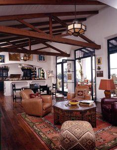 Spanish Colonial Santa Monica Canyon - mediterranean - Spaces - Los Angeles - Lewin Wertheimer