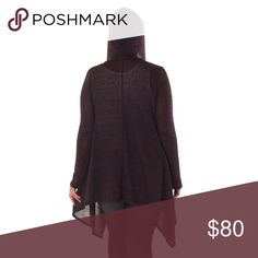 """Long Drape Front Hooded Cardigan Plus The perfect cozy loose knit sweater cardi for cool weather! A hood in case it starts to sprinkle and a slightly oversized fit so you can bundle up if it's breezy. Lighter than a waffle knit. Gorgeous heathered plum wine color.  L/0X Approximately 42"""" long  XL/1X Approximately 43"""" long  XXL/2X Approximately 44"""" long  ❌ Sorry, no trades. fairlygirly Sweaters Cardigans"""