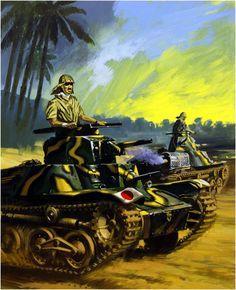 Carro de combate Japonés Type 95 Ha-Go. Wilf Hardy. Más en ww.elgrancapitan.org/foro/