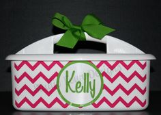 Monogrammed Shower Caddy - - - Must-Haves for Camp, Dorm Room & Sorority House - - - Assorted Colors/Designs Dorm Life, College Life, Camping Must Haves, Cricut Air, Cricut Explore, Graduation Gifts, Sorority, Dorm Room, Decorating Ideas
