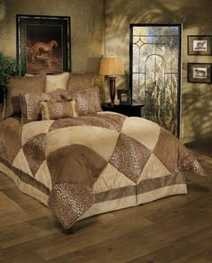Sherry Kline Safari 8-pc King Comforter Set by Sherry Kline Bedding. $169.99. 8 - Piece Comforter Set. Light Taupe Dark Taupe Animal Print Suede Comforter Set and 2 tone Bed skirt.  One of the most unique pieced Geometric animal comforter sets.. Update your bedroom with the stylish comforter set.. Sherry Kline Safari 8-pc Comforter Set. Light Taupe Dark Taupe Animal Print Suede Comforter Set and 2 tone Bed skirt. One of the most unique pieced Geometric animal comf...
