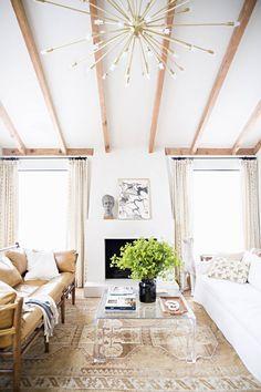 Neutral Living Room by Lauren Liess