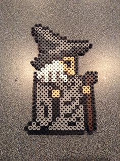 Gandalf the Grey -  Lord of the Rings perler beads by Taylor McKisick