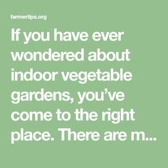 If you have ever wondered about indoor vegetable gardens, you've come to the right place. There are many great benefits to having your vegetable garden indoors. If you're living in a climate that is cooler, you can have fresh vegetables year around. Imagine preparing a meal with fresh vegetables and herbs from your very own …
